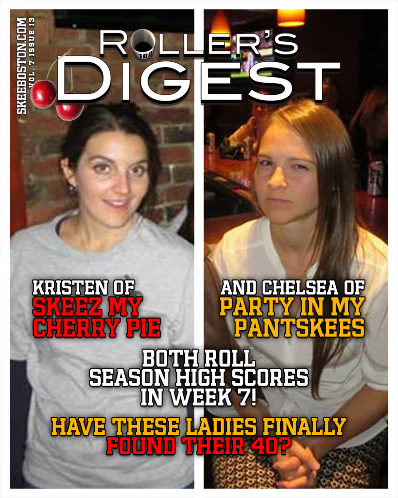 Kristen and Chelsea roll Season Highs in Week 7