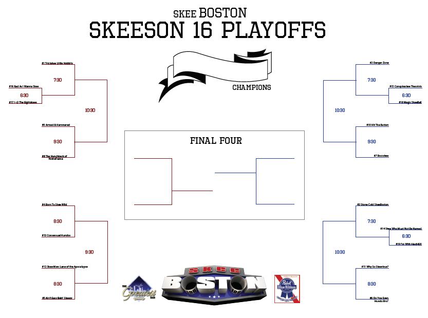 Season 16 Brackets Released - skeeBOSTON